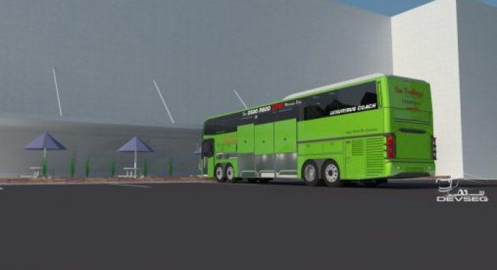 Tampilan bekalang bus