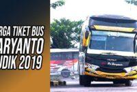 Tiket bus Haryanto lebaran