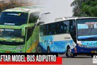 Daftar Bus Adiputro