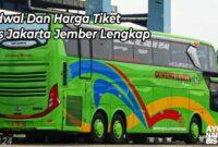 Harga Tiket Bus Jakarta Jember