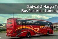 Harga Tiket Bus Jakarta Lamongan