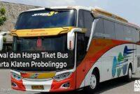 Harga Tiket Bus Jakarta Probolinggo