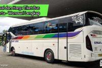 Harga Tiket Bus Jakarta Wonosari