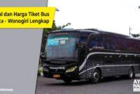 Tiket Bus Jakarta Rembang