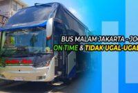 Bus Malam Jakarta Jogja