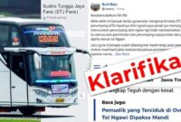 Klarifikasi bus Agam Tungga Jaya